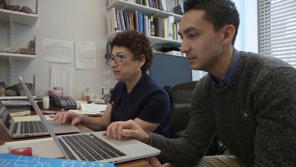 Supran with his advisor, Harvard Professor Naomi Oreskes.Credit: Suzi Tobias.