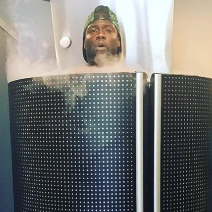 Comedian Kevin Hart, and many other celebrities, are raving about cryotherapy.Credit: Instagram.