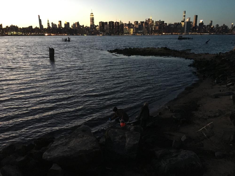 East River sampling.Credit: Lauren Feeney.