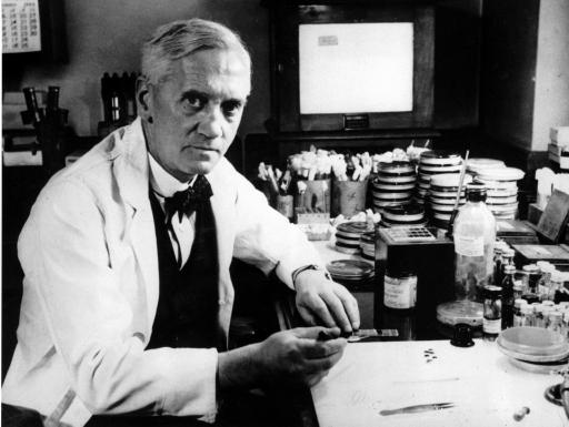 Alexander Fleming, discoverer of penicillin, realized the issue of antibiotic resistance early on. Credit: Wikipedia.