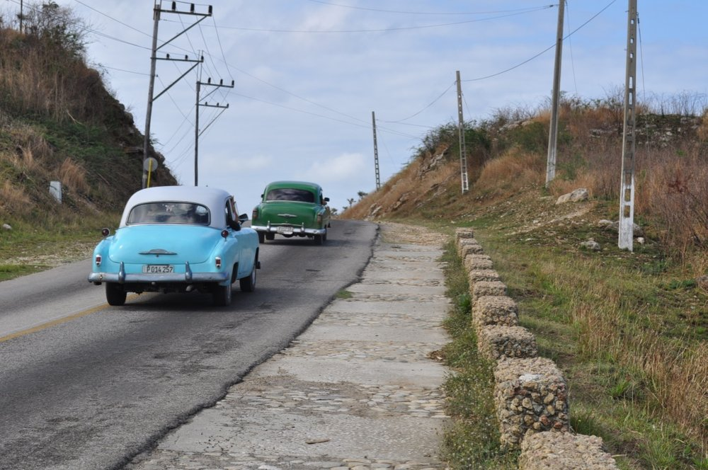 Driving in the Cuban countryside