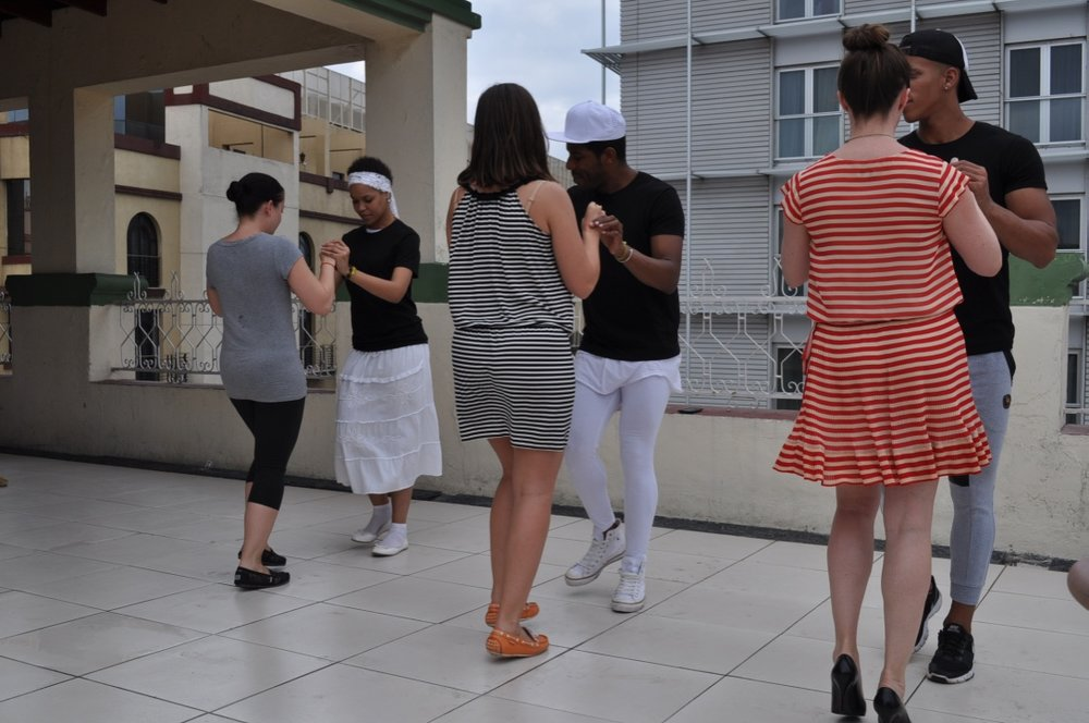 Rooftop salsa lessons!