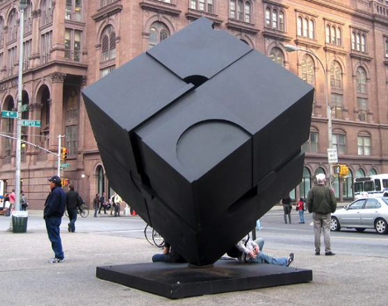 NYC Art - Astor Place Cube Sculpture