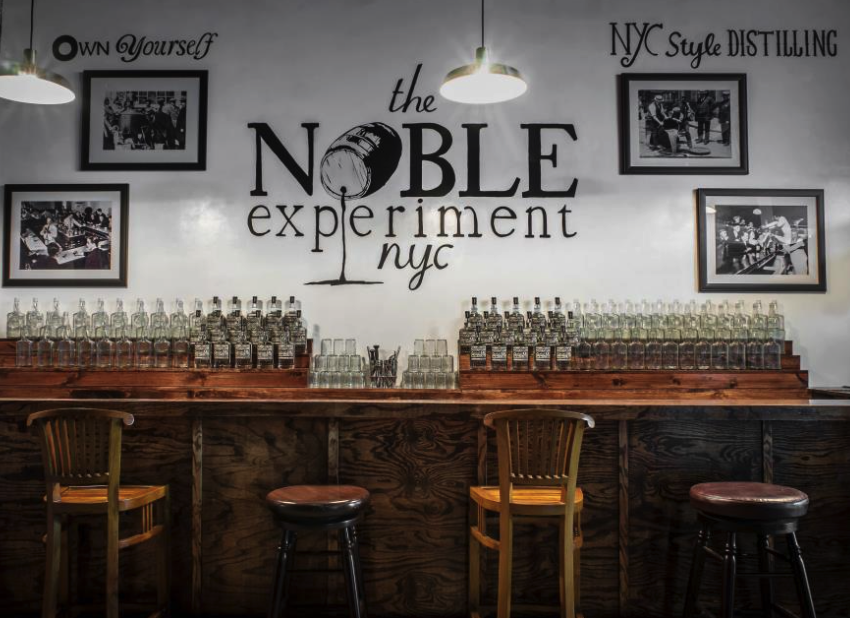 The Noble Experiment (Bushwick) - Limited availability tours but worth a try. They offer an inside look into the day-to-day operations, some history of New York City's rum business, from colonial times through Prohibition and now as well as samples of dry white rum distilled on site using locally sourced organic molasses.