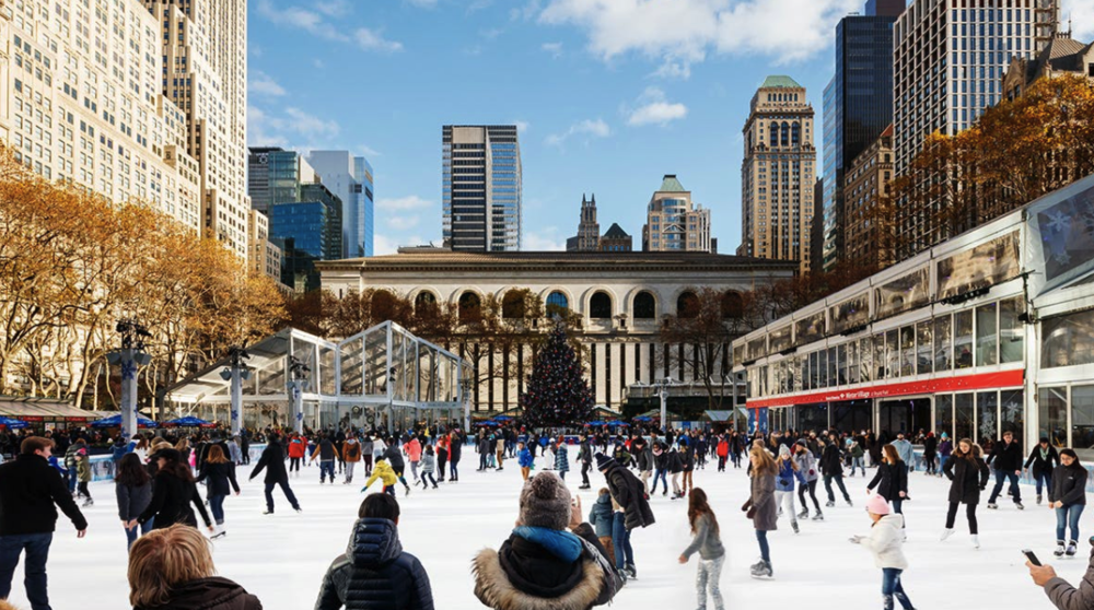 Winter Village at Bryant Park - Open from October 28. Ice skating, holiday shopping, and rinkside dining make magical winter memories.