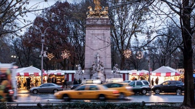 Columbus Circle Holiday Market - Opens November 28: The Columbus Circle Holiday Market is internationally known as one of the most elegant and beautiful places for holiday shopping. Aisles of art, jewelry, home goods and delicious eats from local artisans and designers. Now in it's 15th year, the market is the perfect place to do all your holiday shopping while soaking in the splendor of winter in New York City.