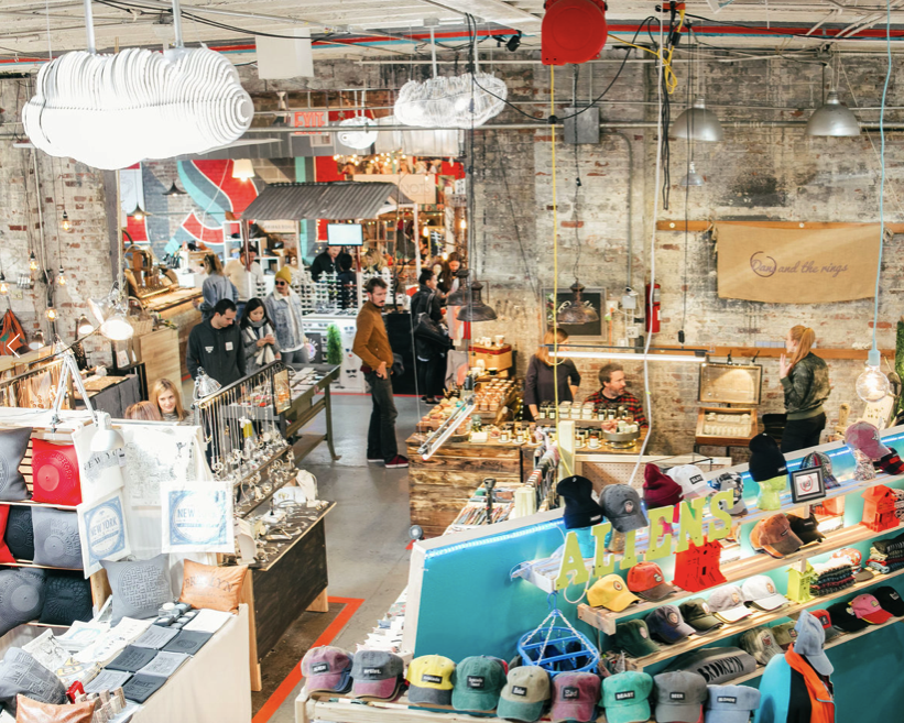 Shop NYC & Brooklyn Makers at Artists & Fleas - Stop by their Soho, Chelsea Market or Williamsburg locations! You can find most of their vendors online. Or, here are a couple of our favorites:BROOKLYN CHARMTHRIFTWARES141ATELIER
