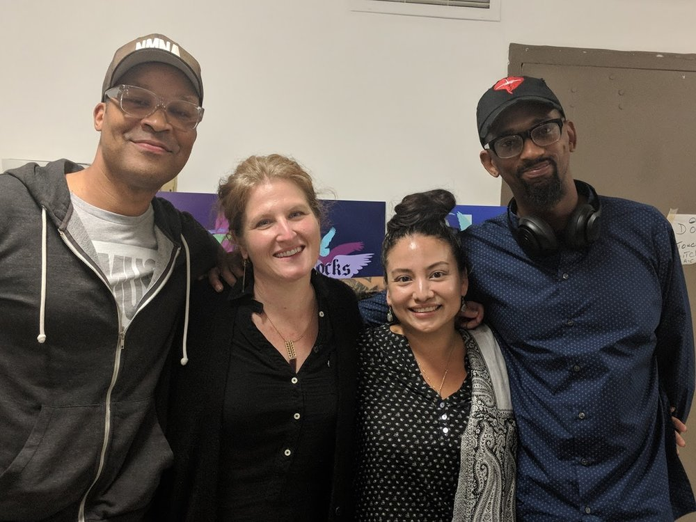 Meet The Muralists (from left): Rah Crawford, Ellie Balk, Gera Lanzo and Flako Jimenez