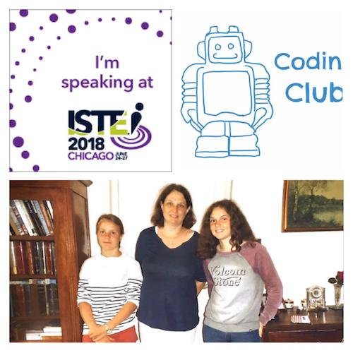 Charlotte Billot and two of her Coding Club student leaders