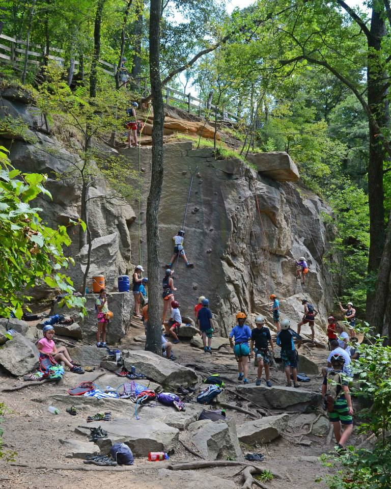 The climbing site on Belle Isle
