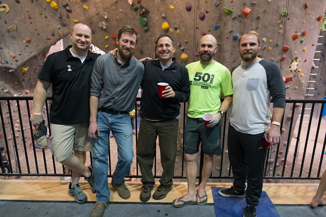 L-R: Neil Headley (Climbing Center Operations), Jay Smith (Climbing Center General Manager and Owner), Mark Grossman (SCOR Owner), Kevin Tobin (Camp Director and Owner), Austin Brooks (SCOR Marketing Manager)
