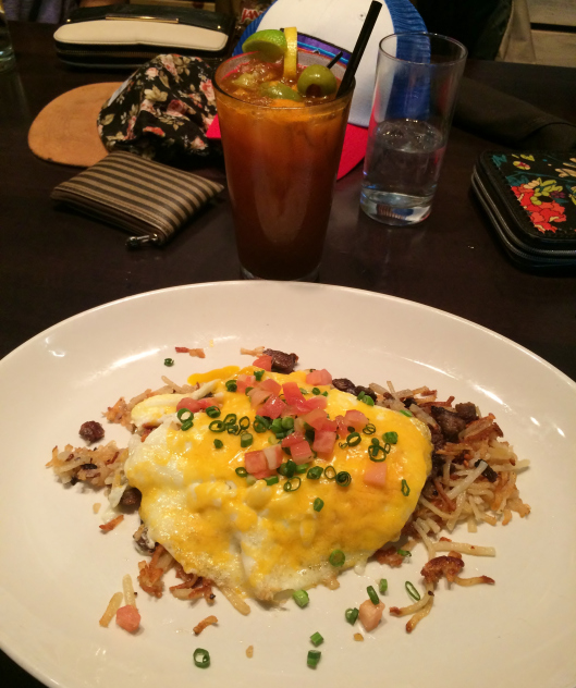 BBQ Hash and Bloody Mary at Smoke Modern Barbeque.
