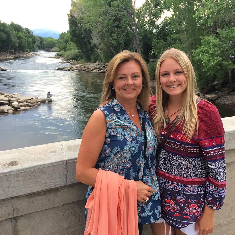 My Mom & I by the Arkansas River