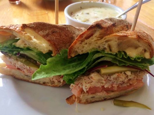 Dungeness Crab Sandwich + Clam Chowder