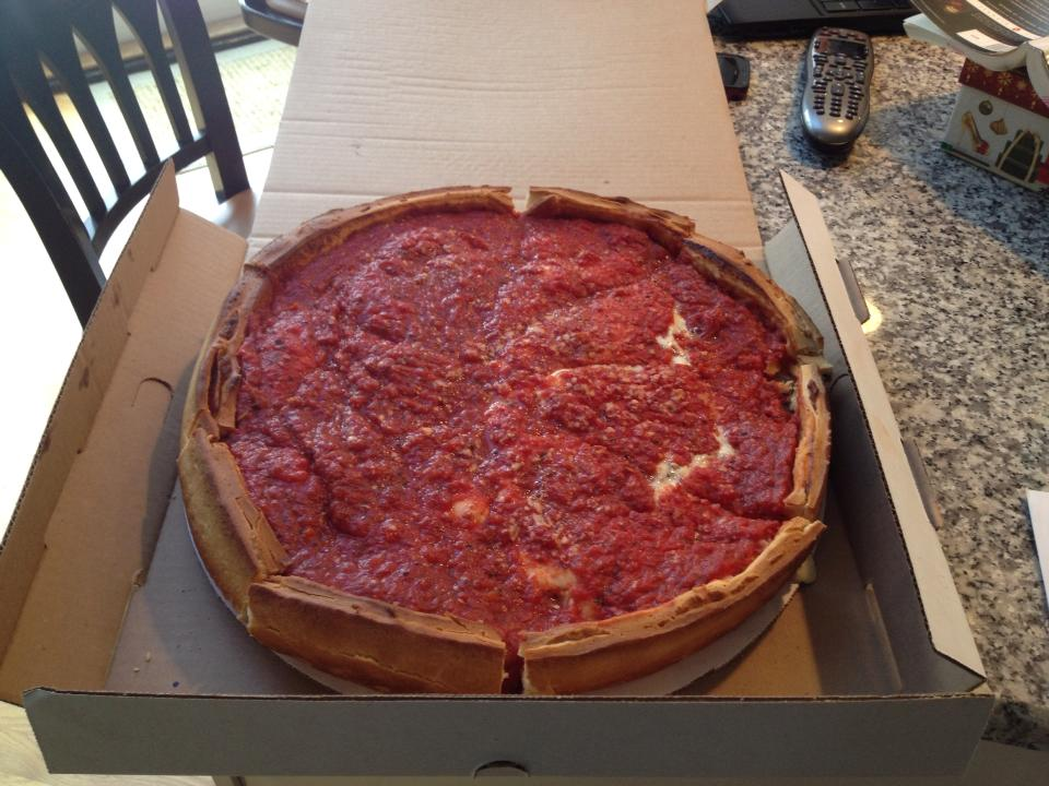 Delicious Deep Dish from Giordano's in Lake Zurich, IL