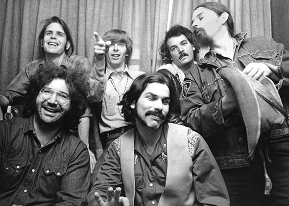 "The Grateful Dead (clockwise): Bob Weir, Phil Lesh, Bill Kreutzmann, Ron ""Pigpen"" McKernan, Mickey Hart and Jerry Garcia, circa 1970, United Kingdom (Photo Credit:  Slate )"