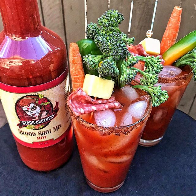 The tale of family is often told through love, and for some families, through the the creation of a delectable Bloody Mary mix. 🌶🍅 A new favorite mix of mine is @bloodbrothersbloodshotmix from Tempe, AZ/ Dunedin, FL, that was created by brothers in memory of their father. Offered in 3 spice levels— mild, medium, + hot— Blood Shot Bloody Mary Mix tastes fresh, is very robust, and has a delicious flavor profile full of Mexican Oregano and fresh garlic. 🌱🌱Blood Brothers' Kickstarter launched today and they need your support! Head to the link in my bio for more information + the link to fund their Kickstarter. 😎😎#BloodyMaryTour loves family recipes. 👍👍 #sponsored