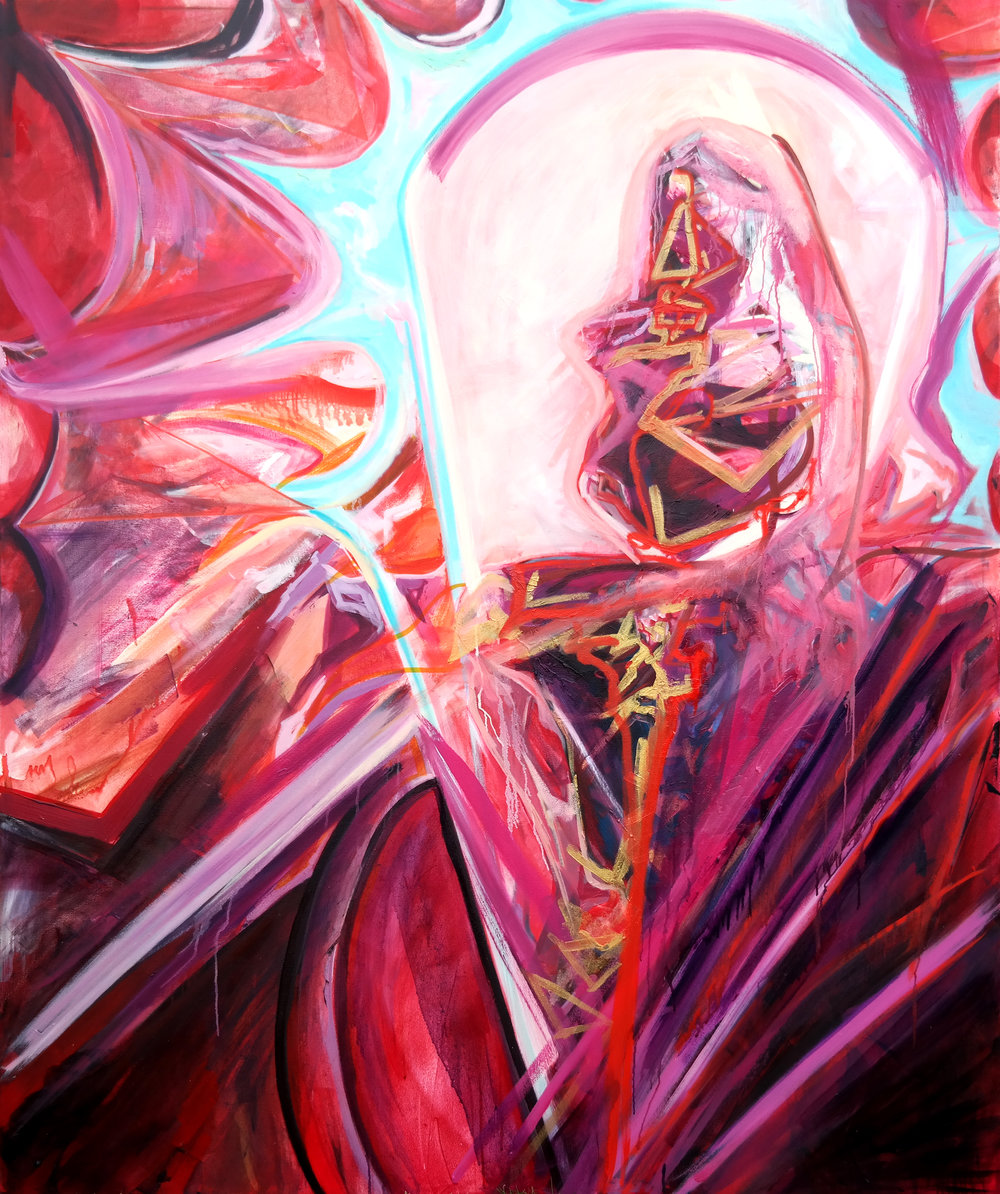"""Vanity"", 2016, 72 in x 60 in, Oil on Canvas"