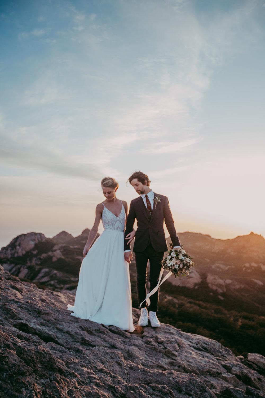 Malibu Mountain Elopement- Karissa Barney Photography Company (www.karissabarney).
