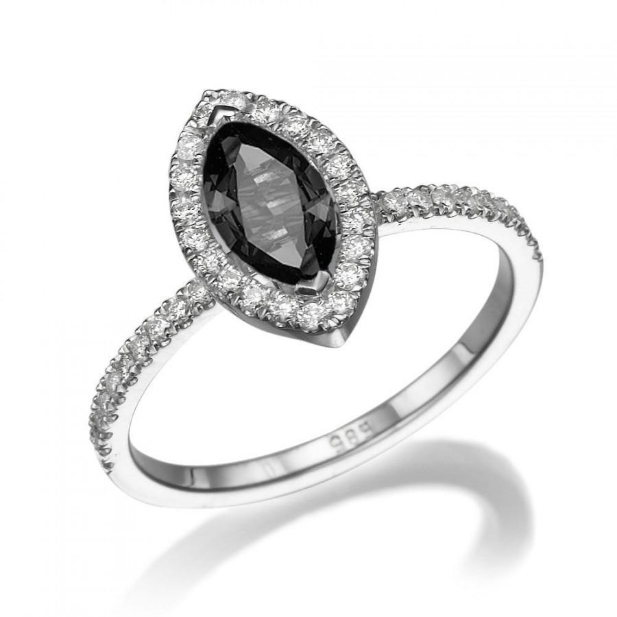 black-diamond-ring-14k-white-gold-ring-cushion-halo-ring-13-tcw-black-diamond-engagement-ring-marquise-ring-unique-rings.jpg