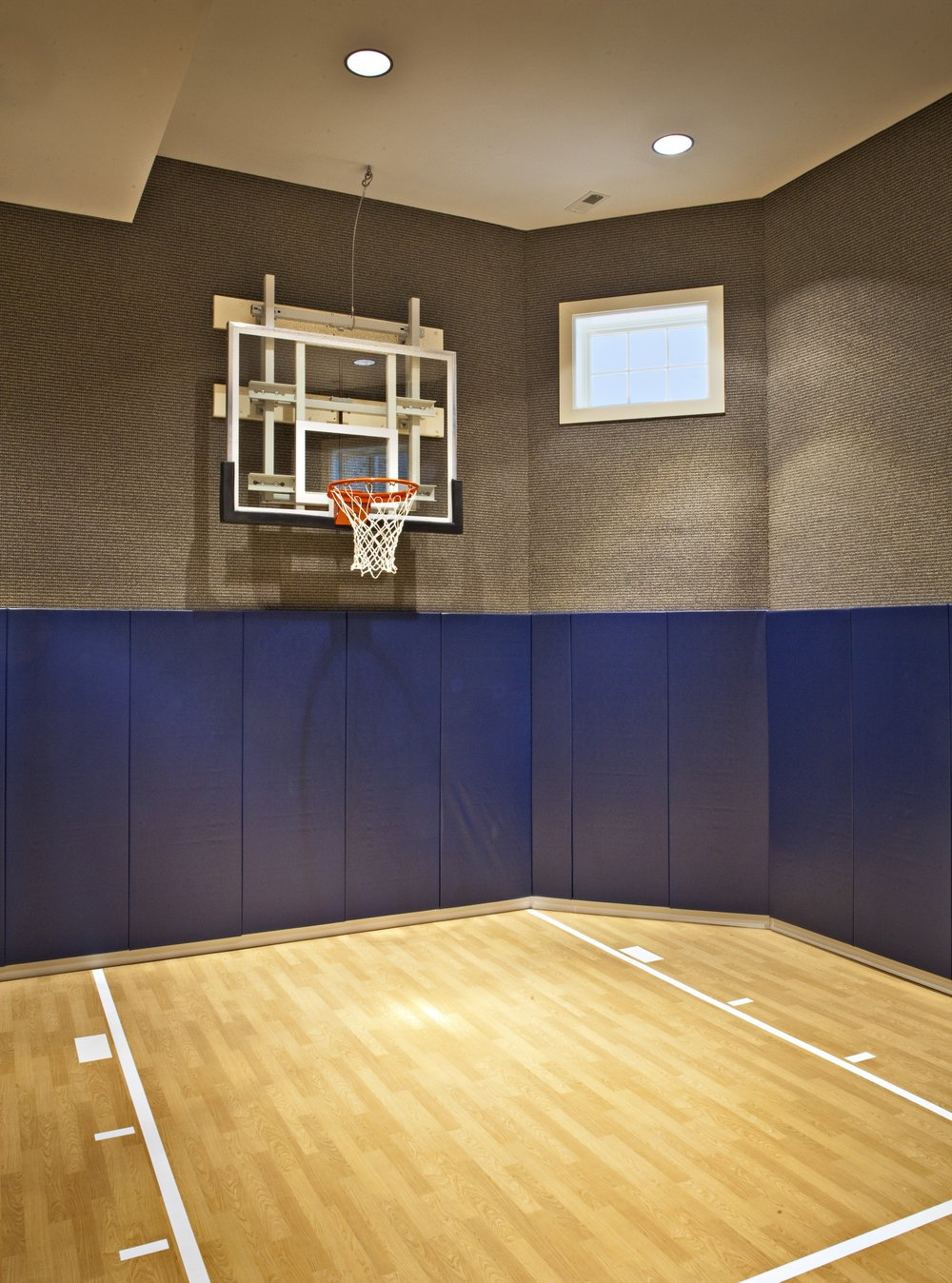 The basement southampton for Custom indoor basketball court