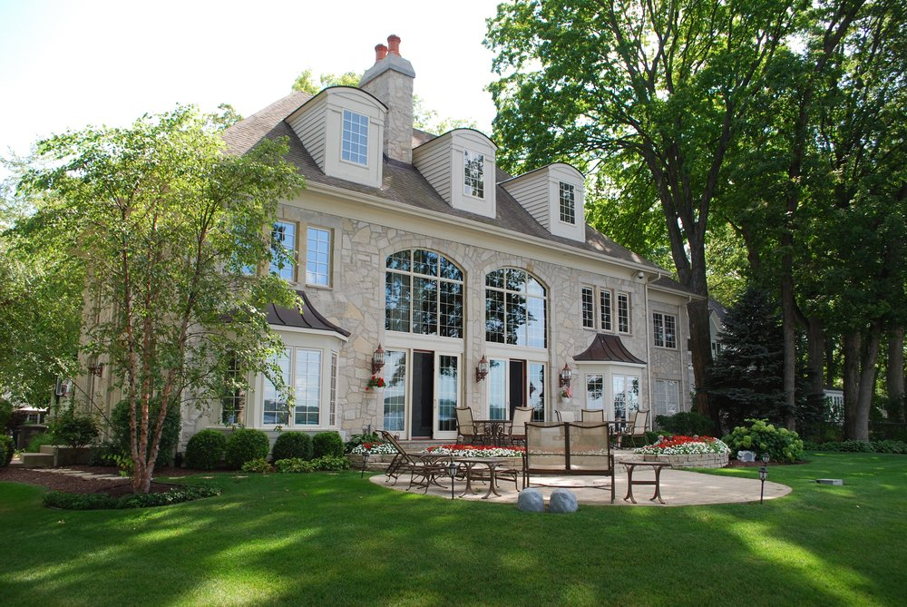 Lake Geneva Wisconsin Custom Lakefront Home by Southampton Builders LLC.