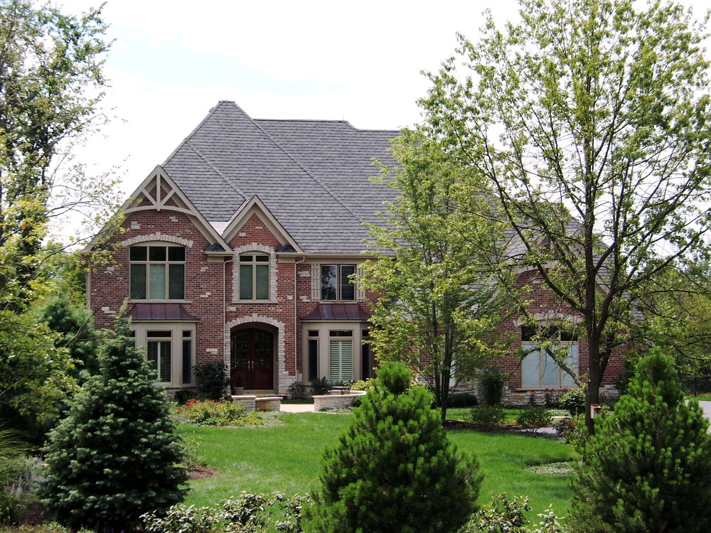 Custom Home Exterior with Brackets in Forest Glen Subdivision in St. Charles IL 60174