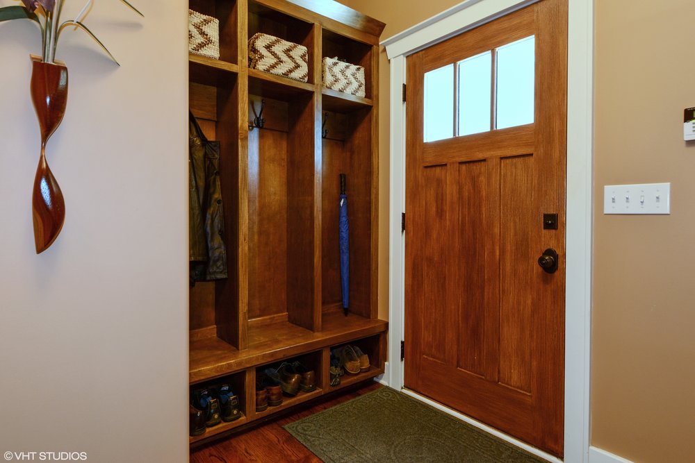 Back Door Lockers in this St. Charles IL Custom Home