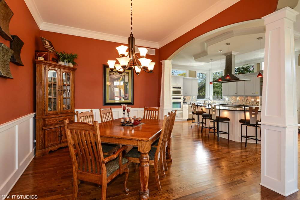 Open Kitchen & Dining Room With Arches