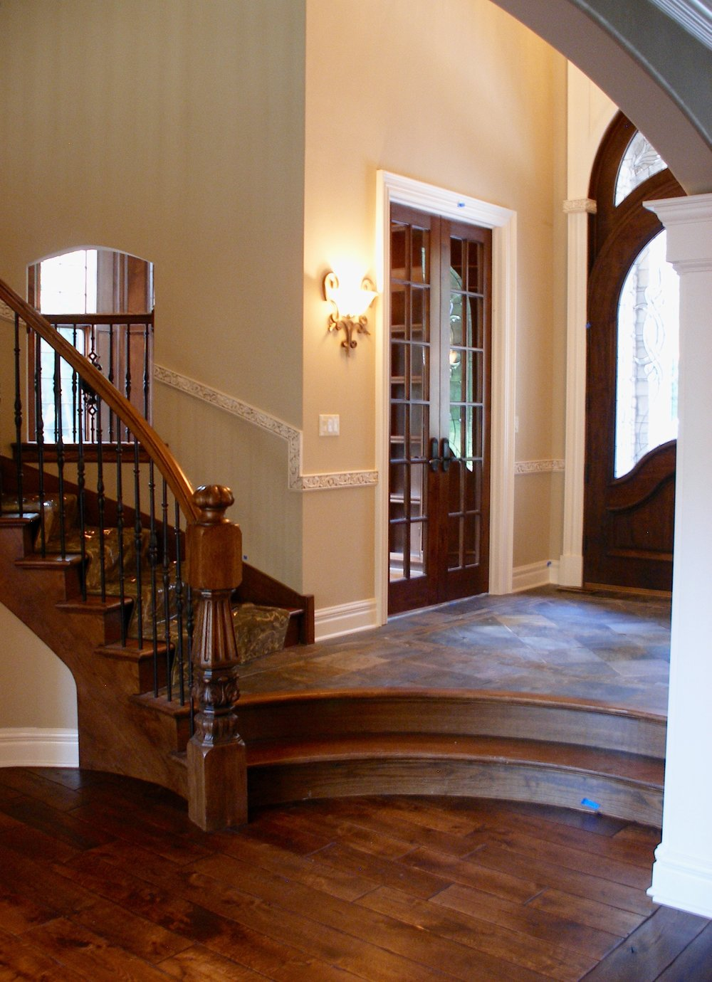 Curved Wooden Front Door
