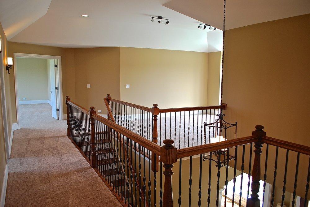 gaming loft in custom Illinois home