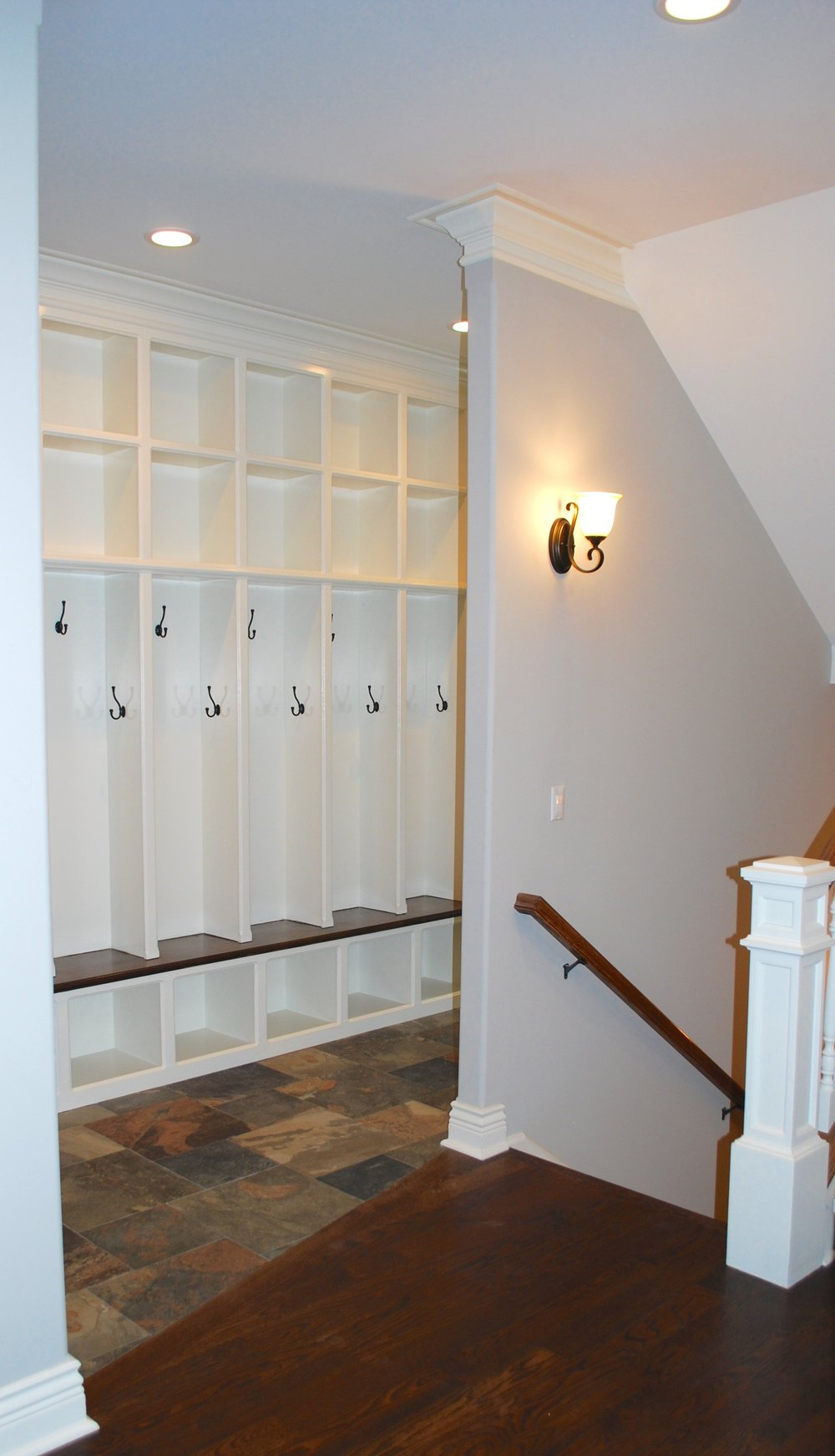 Back Stairs in Mudroom
