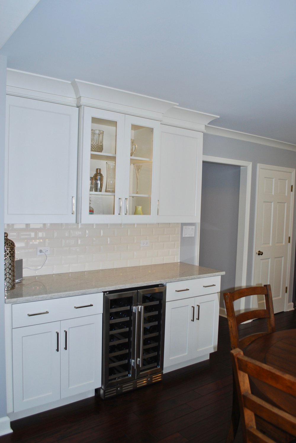 Wine Bar Added in Kitchen Remodel