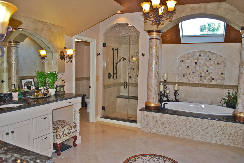 CUSTOM OVER THE TOP BATHROOM IN ST. CHARLES IL