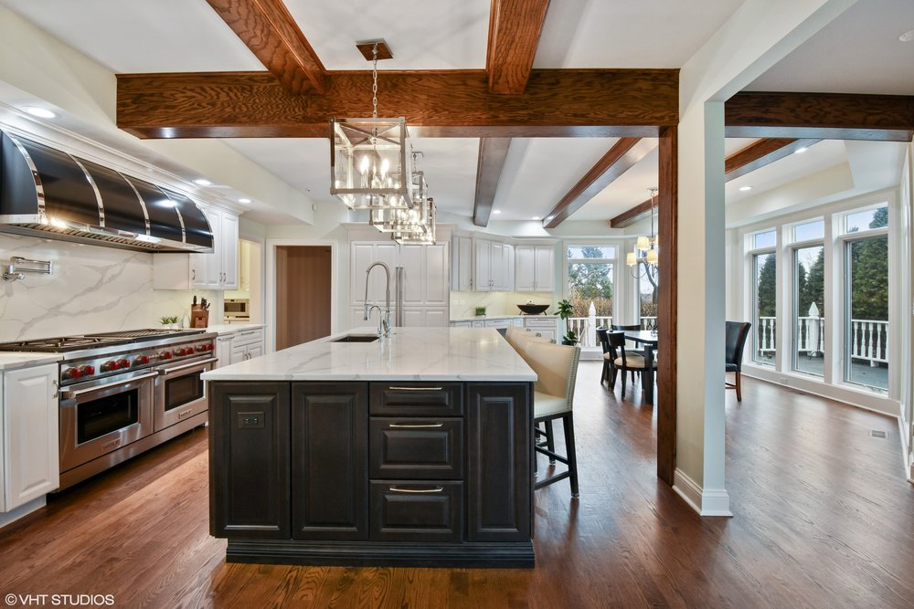 BEAM IN KITCHEN WITH SOFFIT