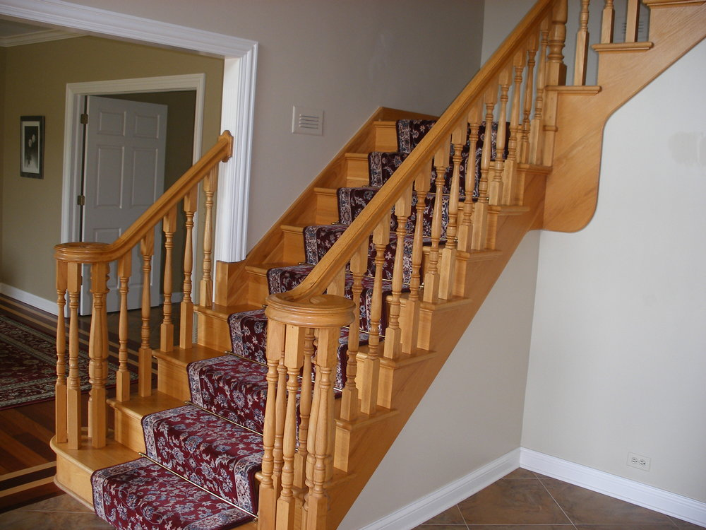 BEFORE PHOTO GENEVA IL STAIR CASE REMODEL