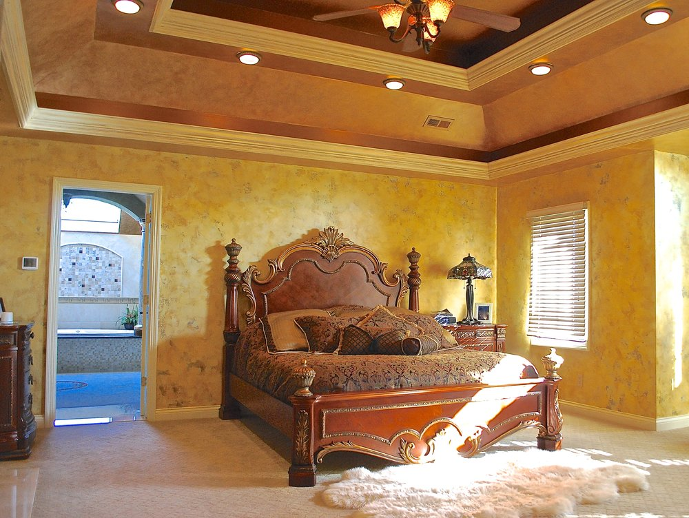 CUSTOM REMODEL IN THIS INVERNESS MASTER EBDROOM CEILING RENOVATIONS. TRAY CEILING ADDED TO MASTER BEDROOM CEILING. HOW TO ADD A TRAY CEILING.