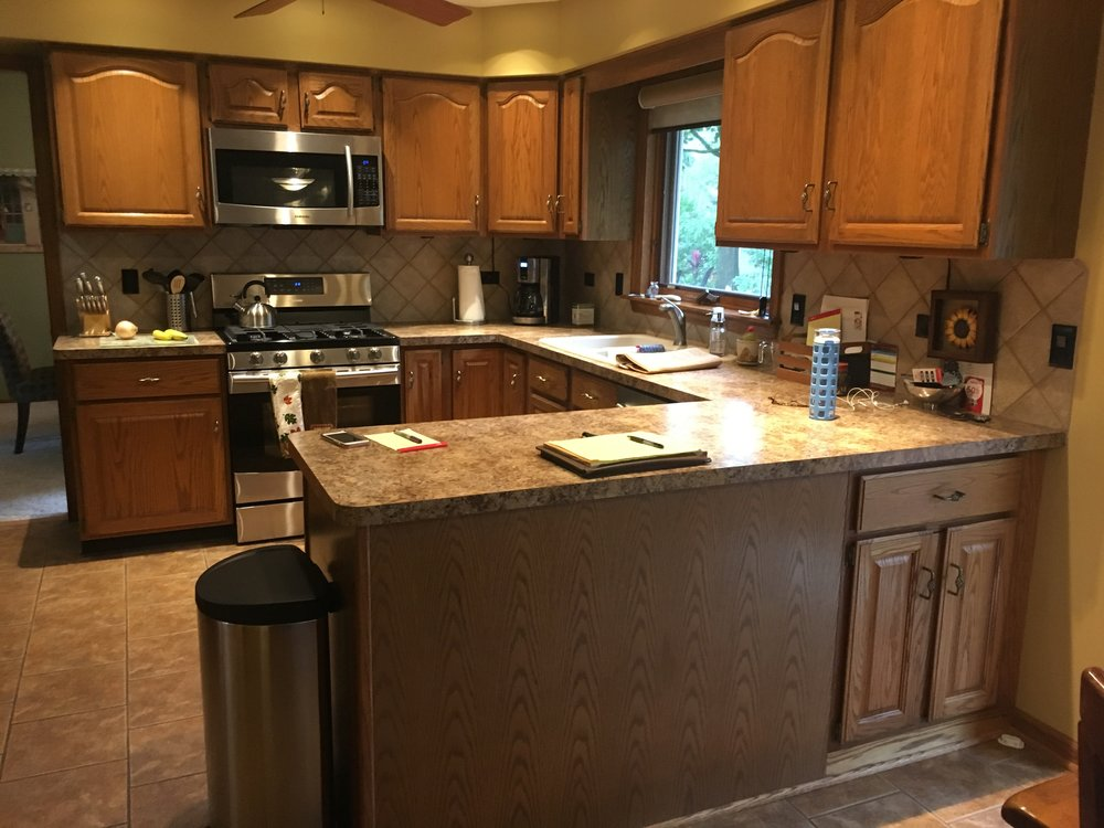 BEFORE PHOTO OF NAPERVILLE IL KITCHEN UPDATE