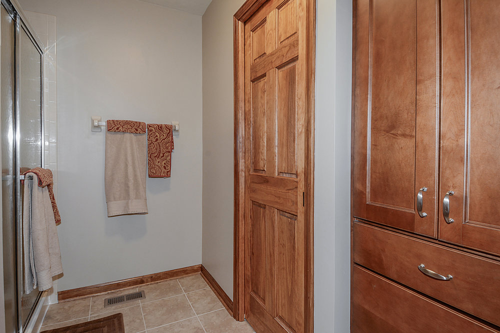 Now these Sellers Had a Separate His & Hers Master Closets!  And This Matching Linen Cabinet that Matched the Vanity.  What a Better Use of Space.  We Had Multiple Offers Once this End Unit Townhome Was Listed for Sale!