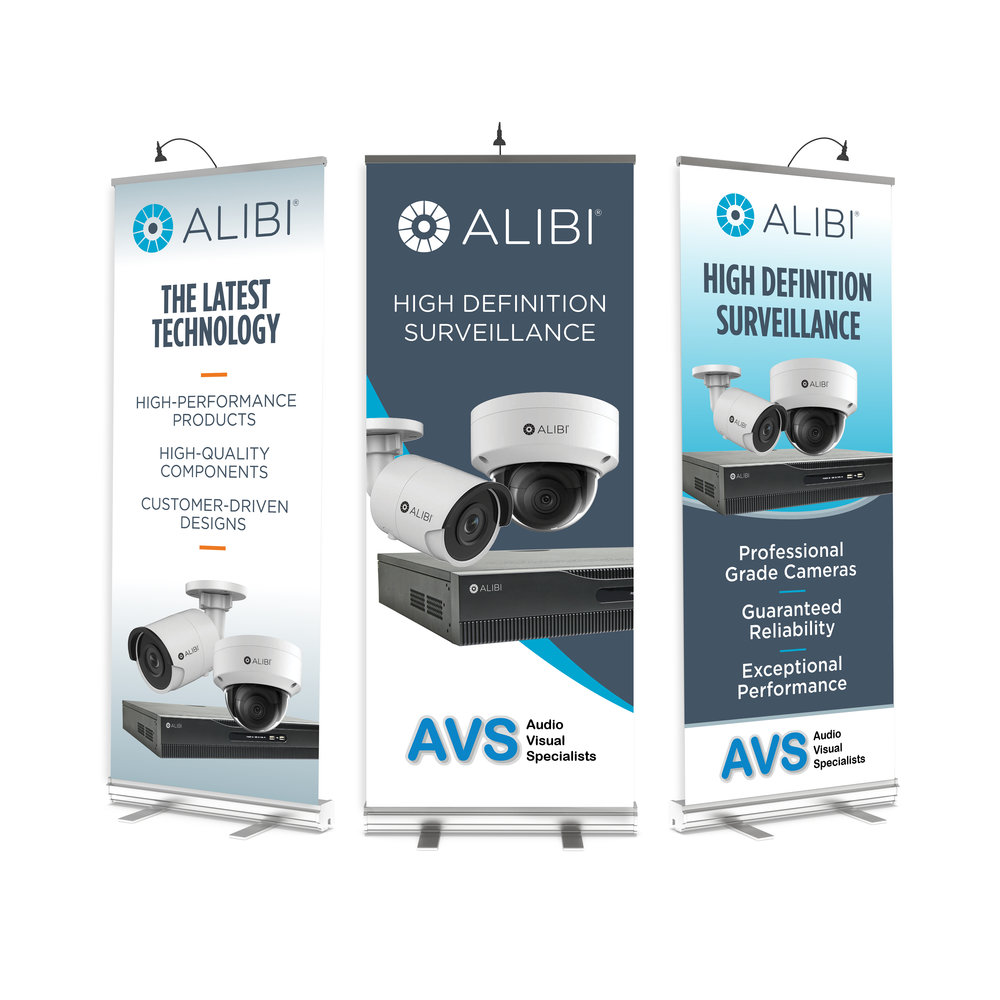 Alibi Popup Banners - Marketing Materials