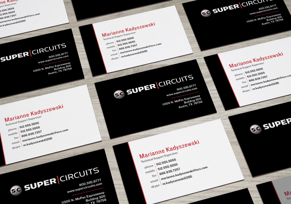 Supercircuits Business Card Refresh - Branding Materials