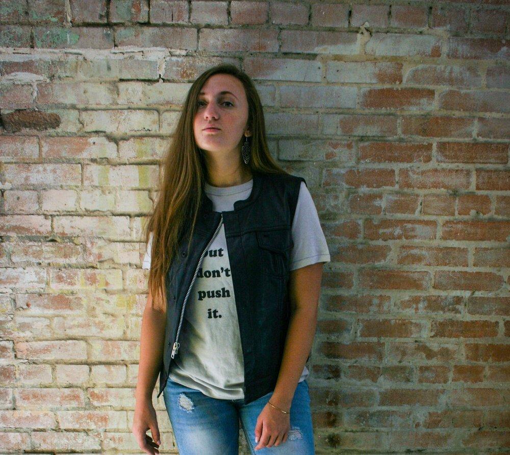 Ladies Leather Club Vest S - 5X