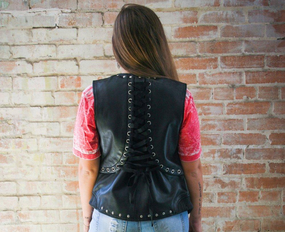 Empress Lace Back Vest S - 5X