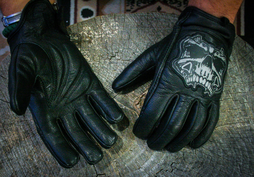 Leather Reflective Skull XS-3X