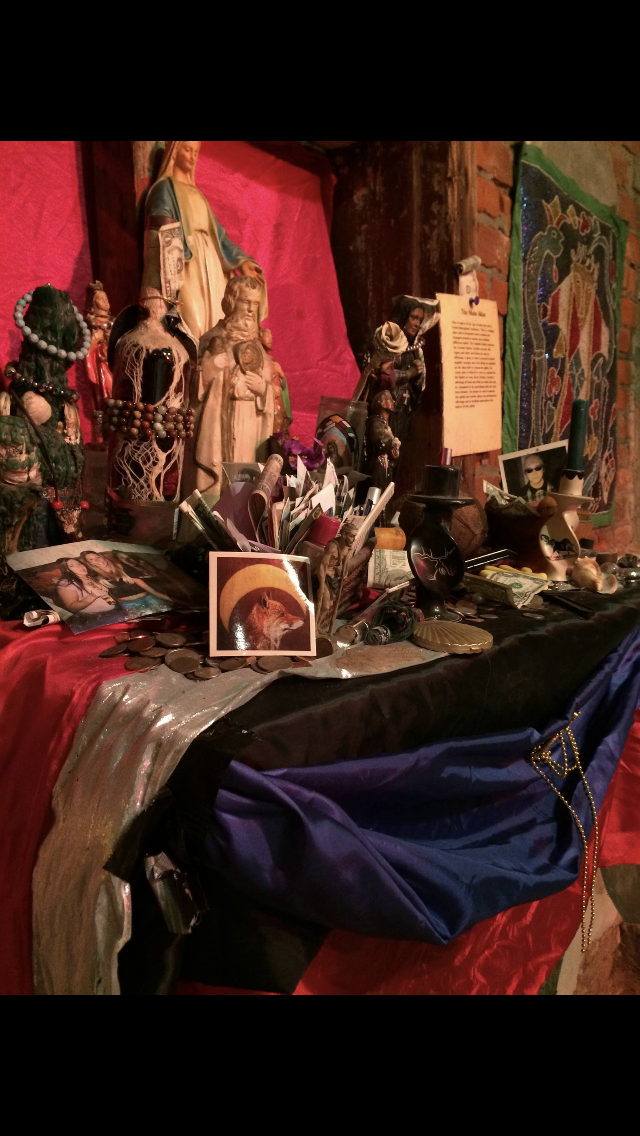 """""""Left on the offering altar at the Voodoo Museum in New Orleans. 03/26/2016"""" -Amanda Spence"""
