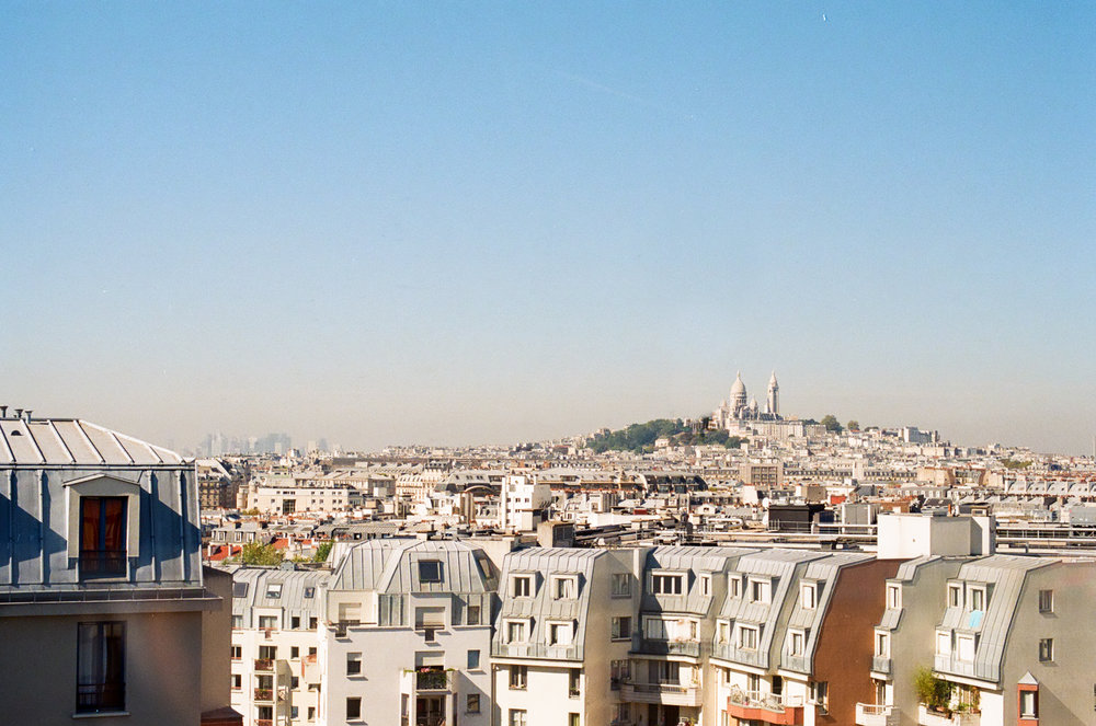 My first peak of the city, from the rooftop of  the Generator Hostel .