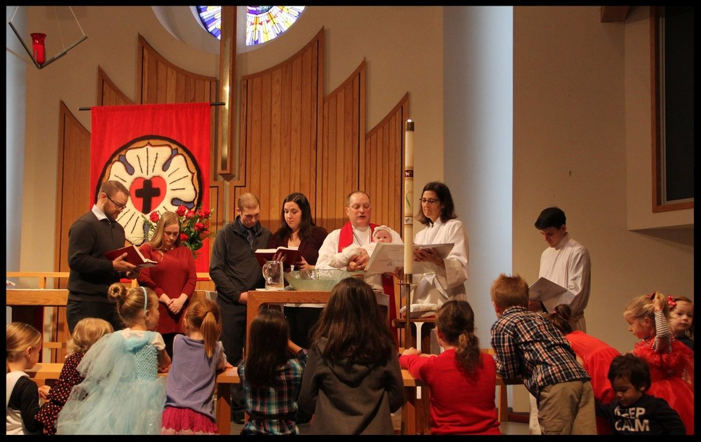 Baptisms are regular and joyous moments