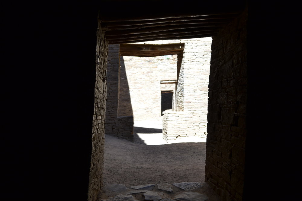 These ancient doorways are found in Chaco National Historical Park, New Mexico.