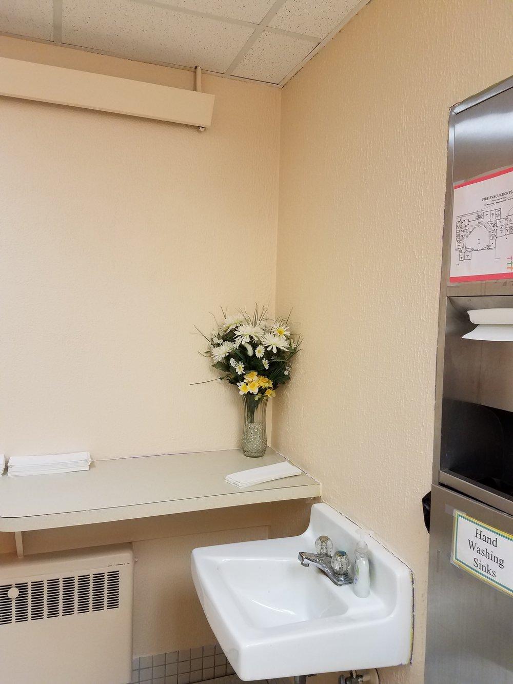 Repainted Bathrooms!