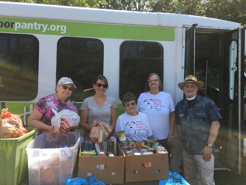 St. James folks serve out in the community, partnering with local organizations to feed neighbors.
